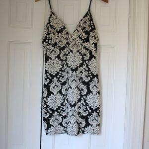 ASTR black and white dress